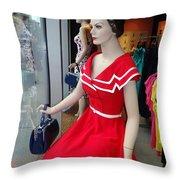 Girls On Display Throw Pillow