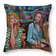 Girls Party Throw Pillow