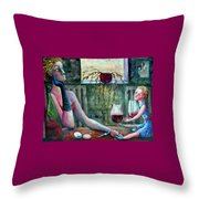 Girls Party Throw Pillow