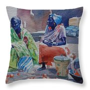 Girls Sellers Throw Pillow