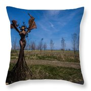 Girls Throw Pillow
