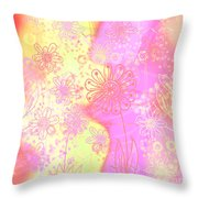 Girlz Only Abstract Throw Pillow