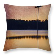 Gisela's Birdhouse Throw Pillow
