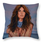 Gisele Bundchen Painting Throw Pillow