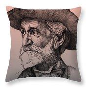 Giuseppe Verdi Throw Pillow