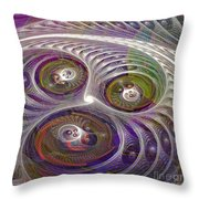 Give Chase - Square Version Throw Pillow