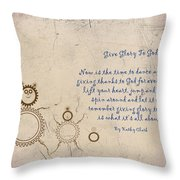 Give Glory To God Throw Pillow