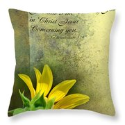 Give Thanks V Throw Pillow