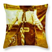 Gizmo The Rodeo Clown Throw Pillow