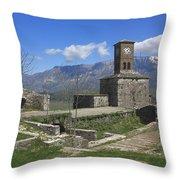 Gjirokaster Castle Albania  Throw Pillow