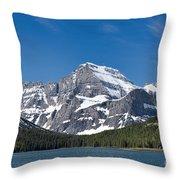 Glacier National Park Mountain Throw Pillow