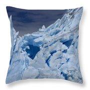 Glacial Blue Throw Pillow