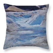 Glacial Meltwater 2 Throw Pillow