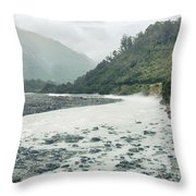 Glacial River Throw Pillow