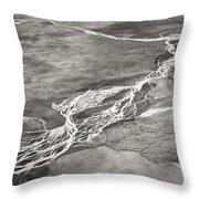 Glacial Rivers Throw Pillow