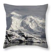 Glaciated Peaks Anvers Isl Antarctica Throw Pillow