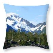 Glacier 4 Throw Pillow