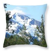 Glacier 5 Throw Pillow