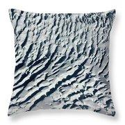 Glacier Abstract Throw Pillow