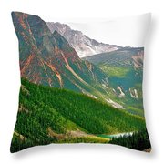 Glacier Area By Mount Edith Cavelle In Jasper Np-alberta Throw Pillow