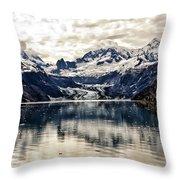 Glacier Bay Landscape - Alaska Throw Pillow