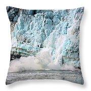 Glacier Calving Margerie Throw Pillow