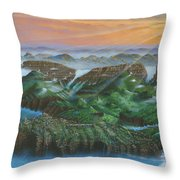 Glacier Castle Ruins Throw Pillow