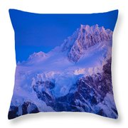 Glacier Covered Paine Grande, Chile Throw Pillow