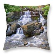 Glacier Falls Glacier National Park Throw Pillow