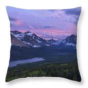Glacier Glow Throw Pillow