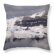 Victoria Glacier Mist - Lake Louise, Alberta Throw Pillow