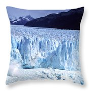 Glacier, Moreno Glacier, Argentine Throw Pillow