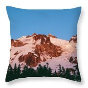Glacier Peak At Kennedy Ridge Throw Pillow