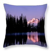 Glacier Peak Sunrise On Image Lake Throw Pillow