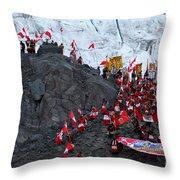 Glacier Pilgrimage Quyllur Riti Festival Throw Pillow