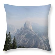 Glacier Point Panorama View Throw Pillow