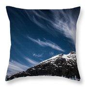 Glacier Sky Throw Pillow