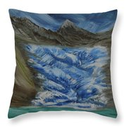 Glacier To Ocean Throw Pillow