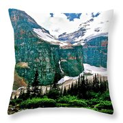 Glaciers Along Plain Of Six Glaciers Trail In Banff Np-alberta Throw Pillow