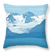 Glaciers In Kenai Range Over Kachemak Bay In Homer-ak- Throw Pillow