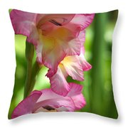 Glad Beauty Throw Pillow