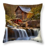 Glade Creek Cascades Throw Pillow