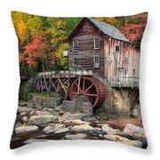 Glade Creek Grist Mill 3  Throw Pillow