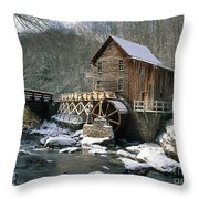 Glade Creek Grist Mill In West Virginia Throw Pillow