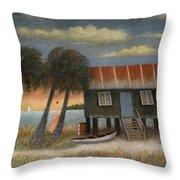 Glades Dweller Throw Pillow