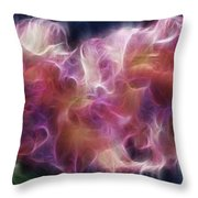 Gladiola Nebula Throw Pillow