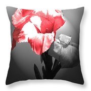 Gladiola With Heart Throw Pillow