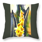 Gladiolas In Wintertime Throw Pillow