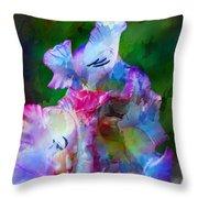 Gladiolus Floral Art Throw Pillow