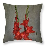 Gladiolus I Throw Pillow